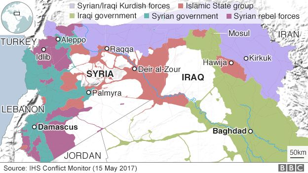 Syria War Turkey Will Never Accept US Alliance With Kurds - Map of us allies and enemies 2017