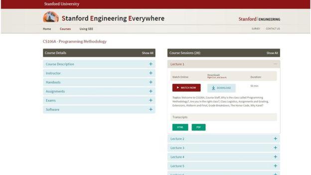 Página web del curso