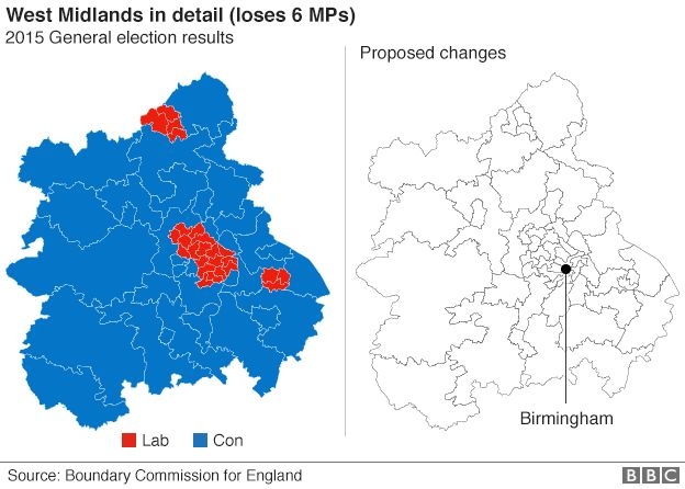 West Midlands boundary changes