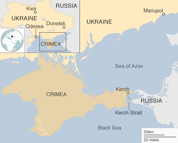 Ukraine And Russia Map.Ukraine Russia Clash Nato S Dilemma In The Black Sea Bbc News