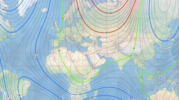 Мапа магнитного поля Землі