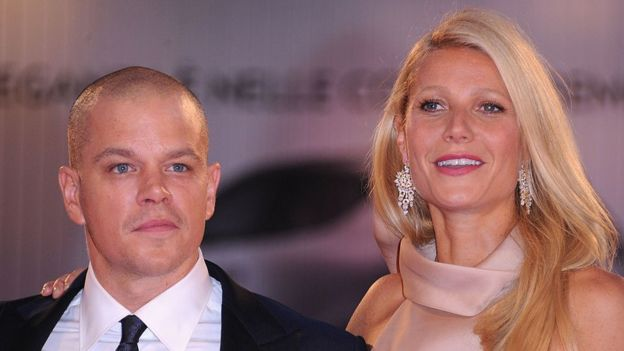 Matt Damon an Gwyneth Paltrow pose for pictures during the Contagion premiere in 2011
