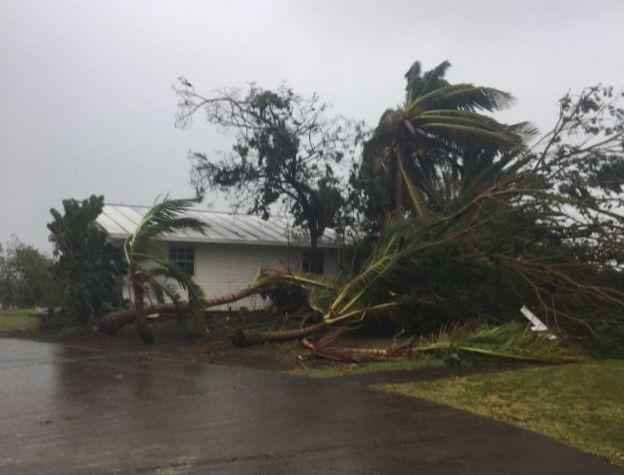 Destrozos en la isla de San Eustaquio