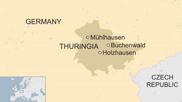 Map of Thuringia