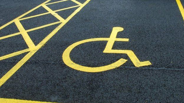 Disabled parking space