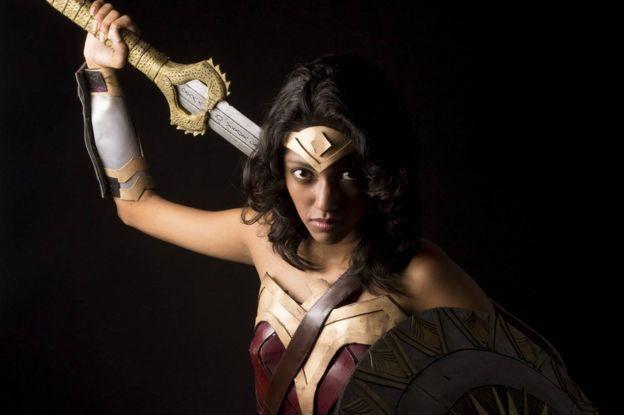 Amaya Suriyapperuma dressed as Wonder Woman