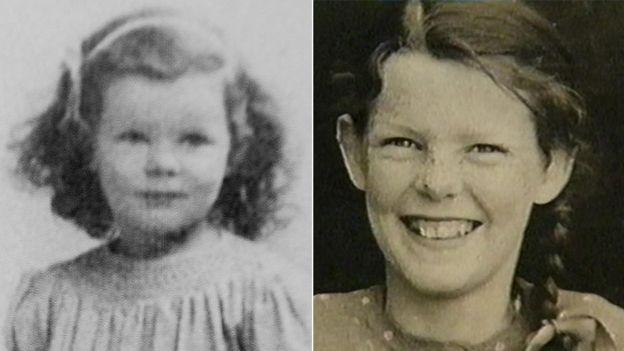 Dos fotos de Anthea de cuando era niña. Foto: Anthea Ring.