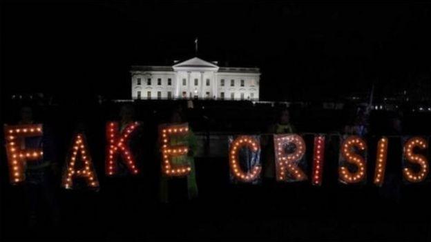 Beyaz Saray önünde protesto