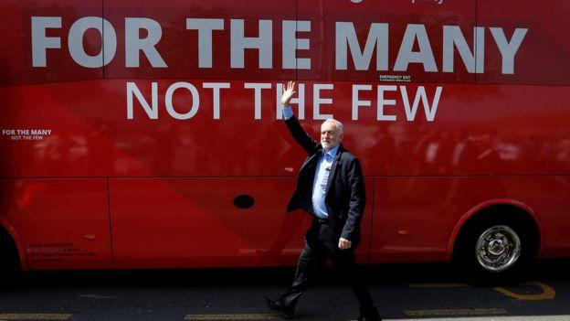Jeremy Corbyn en campaña