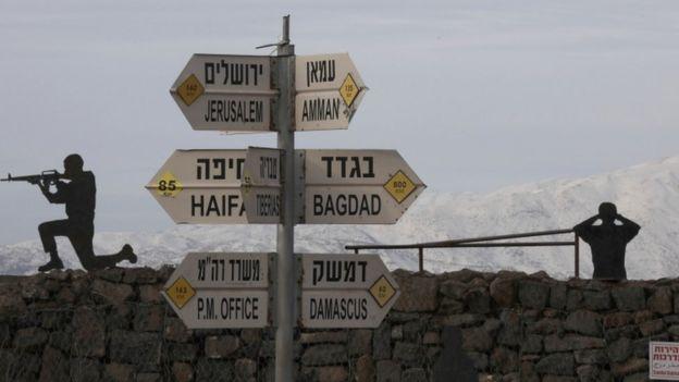Silueta de soldados israelenses