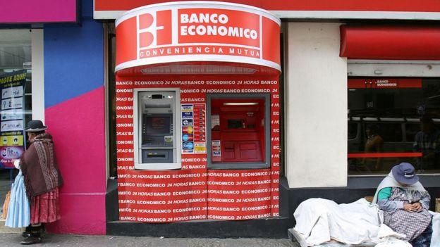 Banco en Bolivia.