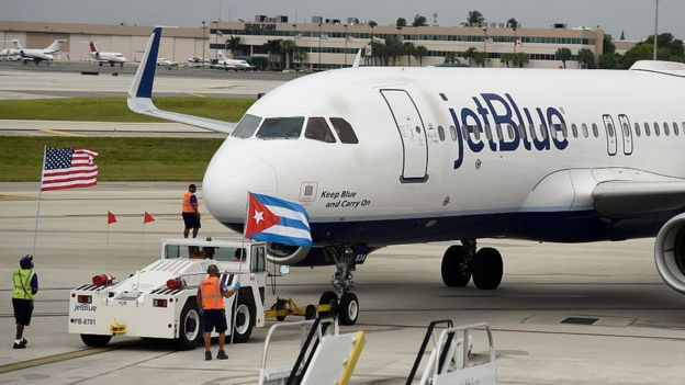 Avión de Jet Blue