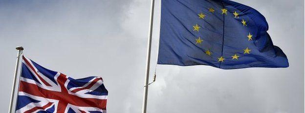 EU flag and union jack