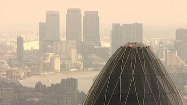 英国空气污染也相当严重。