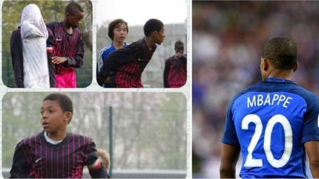 Cậu thiếu niên Kylian Mbappe chơi cho CLB Bondy ở ngoại ô Paris và tài năng của cậu hiện rõ từ khi còn bé