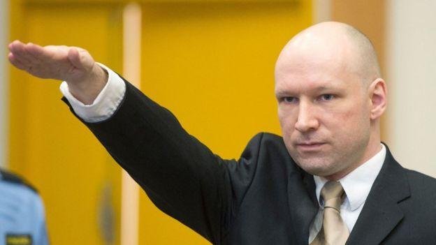 Anders Behring Breivik en una foto de archivo de 2016