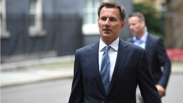 Foreign Minister Jeremy Hunt