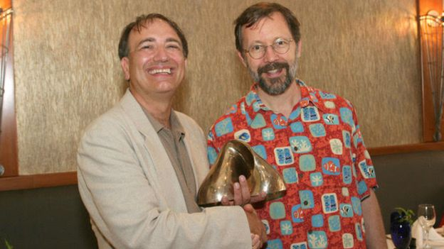 Pat Hanrahan (left) and Ed Catmull