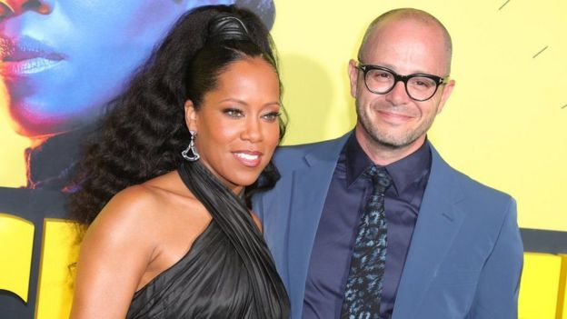 Regina King y Damon Lindelof, creador de Watchmen