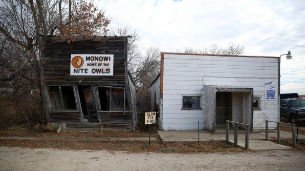 Las construcciones de Monowi están en ruinas.