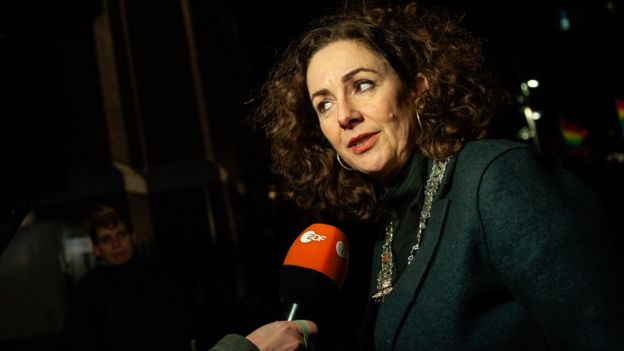 Mayor of Amsterdam, Femke Halsema, on January 9th, in Amsterdam
