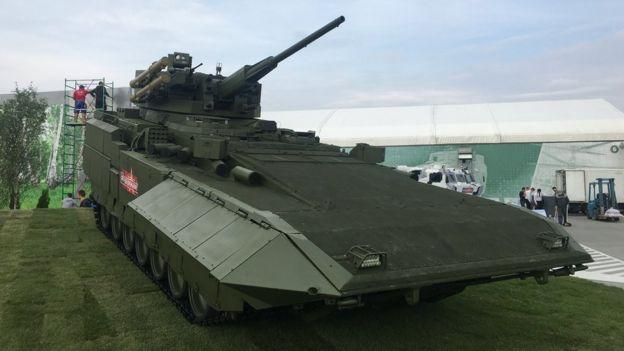 "Опытный образец тяжелой БМП Т-15 проекта ""Армата"""