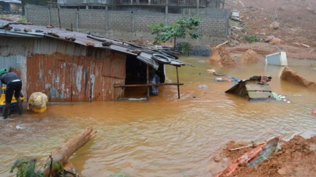 Inundación en Freetown, Sierra Leona