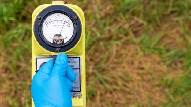 Aparato medidor de radioactividad
