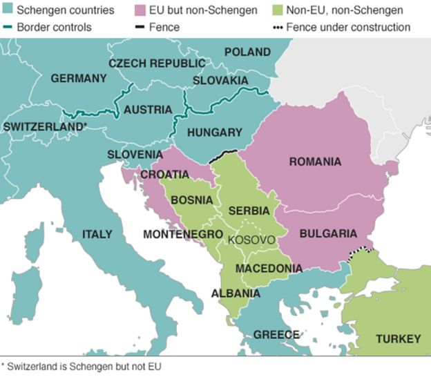Migrant crisis: Croatia to allow migrants to travel north - BBC News