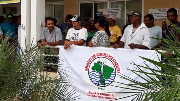 Protesto em Barra Longa no dia 5 de fevereiro