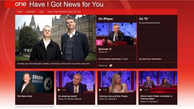 《新聞問答》節目的BBC官網截圖