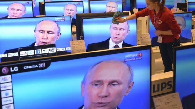 Ông Putin kiểm soát các mạng truyền hình nước Nga