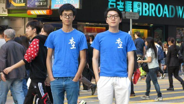 """""""本民前""""的梁天琦(右)及黄台仰(左)(BBC中文网资料图片)"""