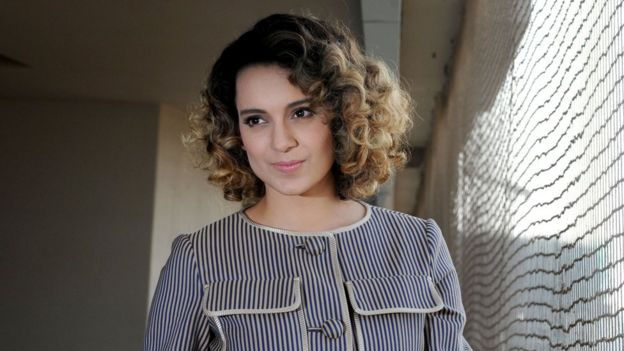 Indian Bollywood actress Kangana Ranaut poses during a promotional event for the forthcoming Hindi film 'Rangoon' in Mumbai on January 24, 2017.