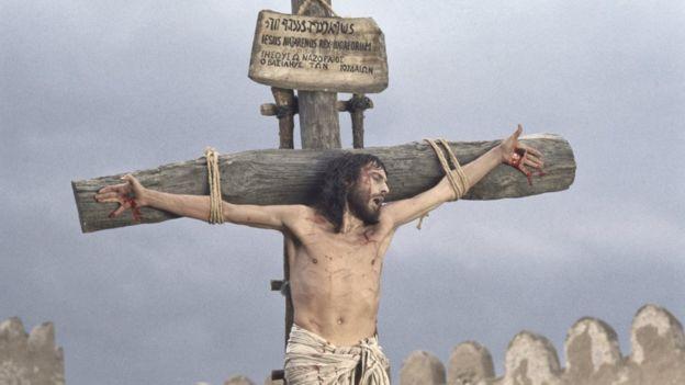 Jesñús crucificado.