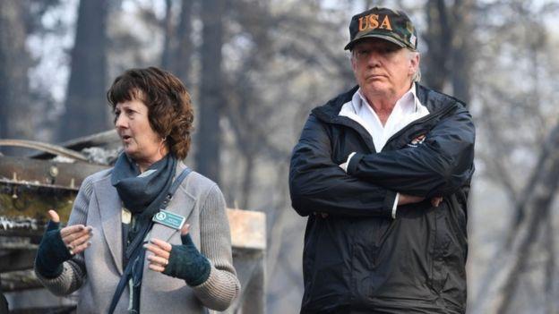 Trump oo booqday magaalada Paradise