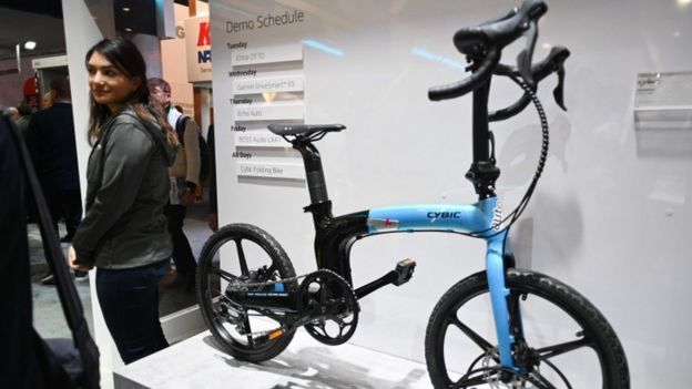 Cybic electric bike with Alexa built in