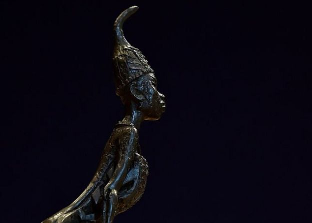 A photo of one of Ben Enwonwu's sculptures