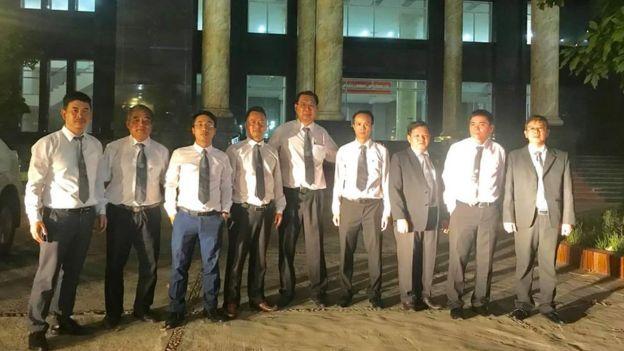 Các luật sư bào chữa cho ba nhà hoạt động Vũ Quang Thuận, Nguyễn Văn Điển và Trần Hoàng Phúc hôm 10/7