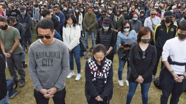 Black-clad protesters gather in Hong Kong