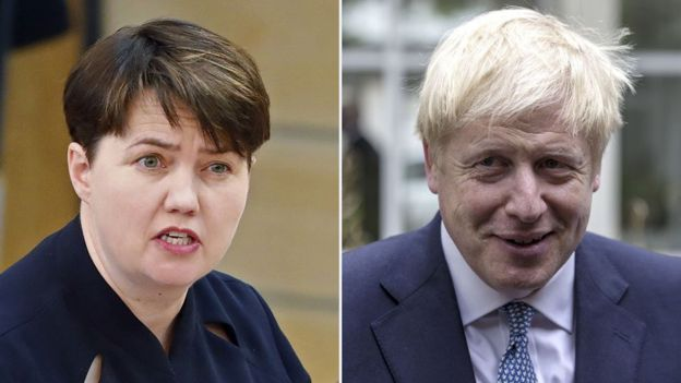 Ruth Davidson and Boris Johnson