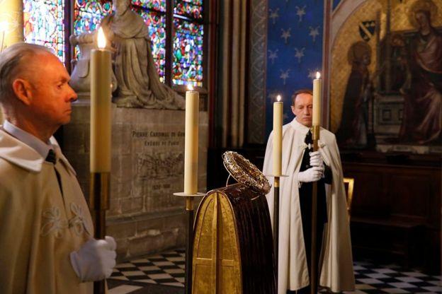 Терновый венец в соборе Нотр-Дам
