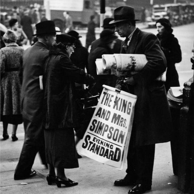 La noticia de última hora de la relación entre el rey Eduardo VIII y Wallis Simpson y sus intenciones de abdicar al trono británico
