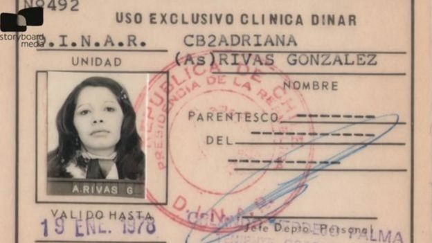 An ID card from the Dina issued to Ms Rivas