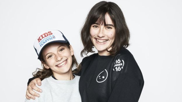 Amy Meek (right) and her sister, Ella