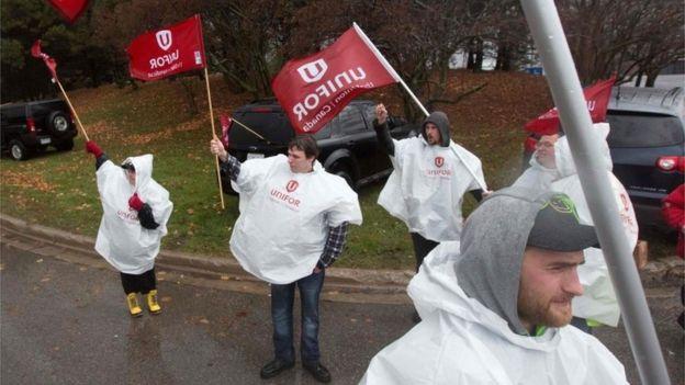 Protesta en Canadá