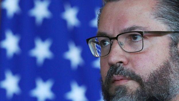 Ministro de Relaciones Exteriores brasileño, Ernesto Araújo,