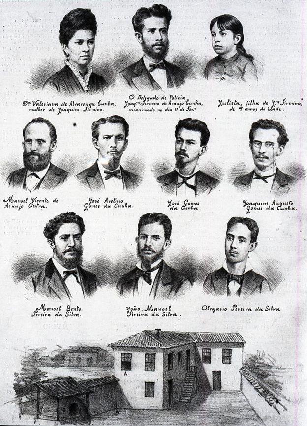 Ilustração de Angelo Agostini sobre o caso