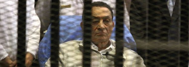 Hosni Mubarak in 2013 awaiting trial