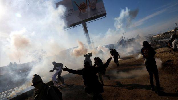 Gases en Tijuana.